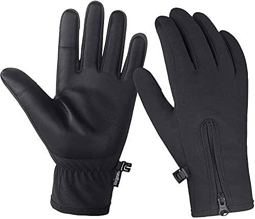 Unigear Guantes de Invierno Super Cálido Impermeable Pantalla Táctil A Prueba de Viento Antideslizante para Moto y Ciclismo Hombre