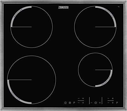 Zanussi ZIT6460XB Autarkes Kochfeld / Induktion / 60 cm / Edelstahlrahmen / 4 Kochzonen / Powerfunktion / Kindersicherung