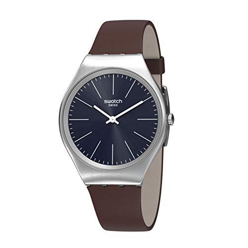 Swatch Reloj Analógico para Mujer de Cuarzo con Correa en Cuero SYXS106C
