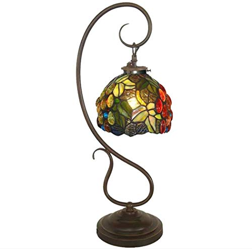 GXY Lámpara de Mesa Lámpara de Mesa con Diseño de Uva Vidrio...