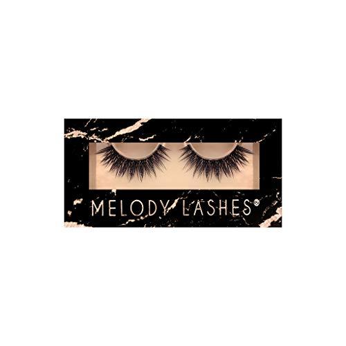 Melody Lashes im schönen Stil Wimpern | synthetische fake Wimpern | Handgefertigt Sorgfalt Hochwertiges 3D Eyelashes Perfekt für das tägliche Make-up