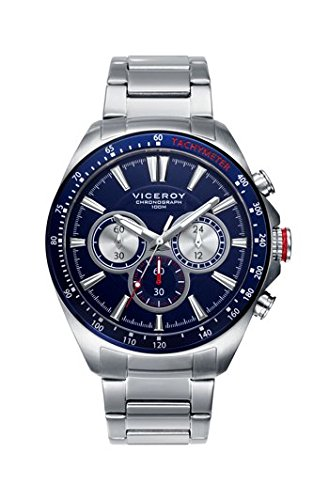 Viceroy 46649-37 - Cronografo de acero, brazalete