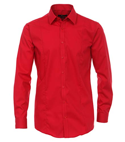Venti Chemise de travail Col chemise classique Manches 3/4 Homme - Rouge - Rot (408 rot) - X-Small