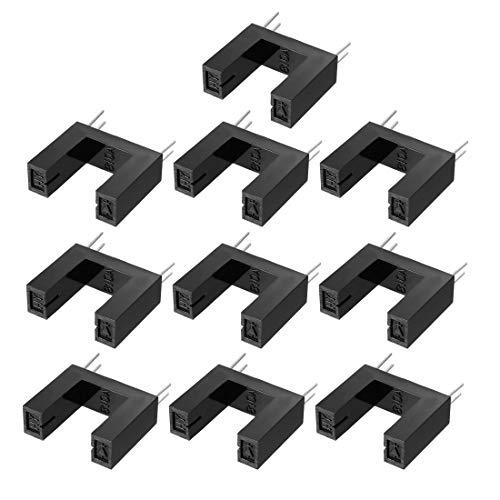 sourcing map 10Pcs Interruptor Sensor Óptico Ranurado Hy810A 25/64