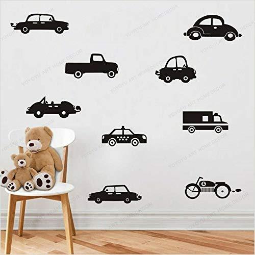XIANNV Garçons Paroi Decal Automobile Voiture Kids Room Wall Sticker Décor Viny Art Amovible Autocollant for Chambre Maternelle (Color : H618 Bright Green, Size : H618 Bright Green)