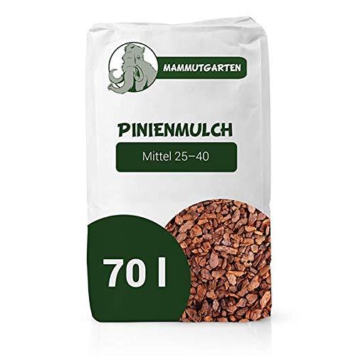 MammutGarten Pinienmulch Pinie Rinde Garten Mittel 25-40 mm 70l Sack