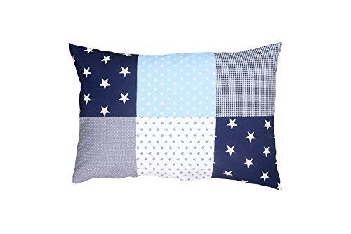 ULLENBOOM ® kussensloop voor kussens voor baby's l 40x60 cm l met ritssluiting l hoes ook geschikt voor sierkussens I blauw lichtblauw grijs