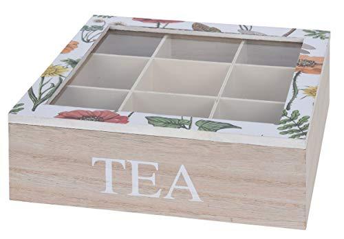 Eliware Teebox 'Tea' mit Mehreren Fächern (Weiß)