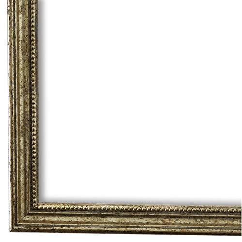 Bilderrahmen Silber DIN A3 (29,7 x 42,0 cm) cm - Antik, Barock, Klassisch - Alle Größen - handgefertigt - Galerie-Qualität - WRF - Empoli 1,5