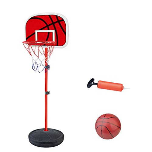 YuanDian Kinder Basketballkorb Portable Verstellbarer Basketballbrett 110-175cm Basketballständer Drinnen Outdoor Garten Freistehend Mini Basketballkörbe Boards Basketballanlage Set 140cm 1 Ball