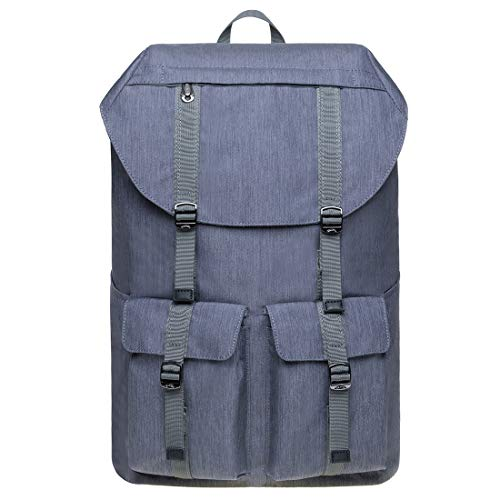 KAUKKO Vintage Unisex Rucksack Studenten 17 Zoll Backpack für 14