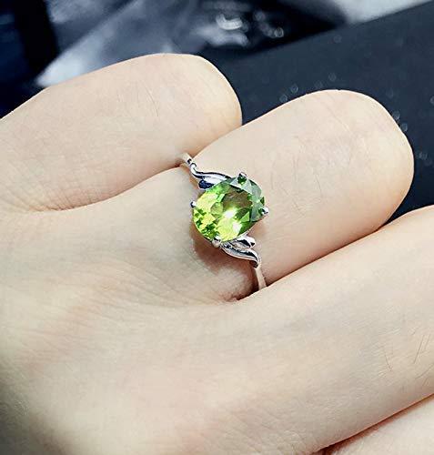 Green Peridot Ring  Raw Stone  August Birthstone Ring  Gift for Daughter  Gemstone Ring  Green Stone Ring  Adjustable Ring  Statement
