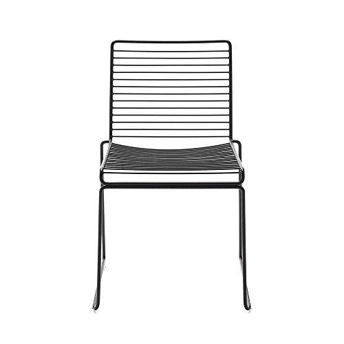 HEE Dining Stuhl, schwarz pulverbeschichtet 47.5x79x50cm Sitzhöhe: 47cm für Innen- und Außerbereich geeignet