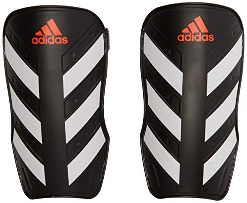 adidas Everlite Shin Guards, Black/White/Solar red, XS