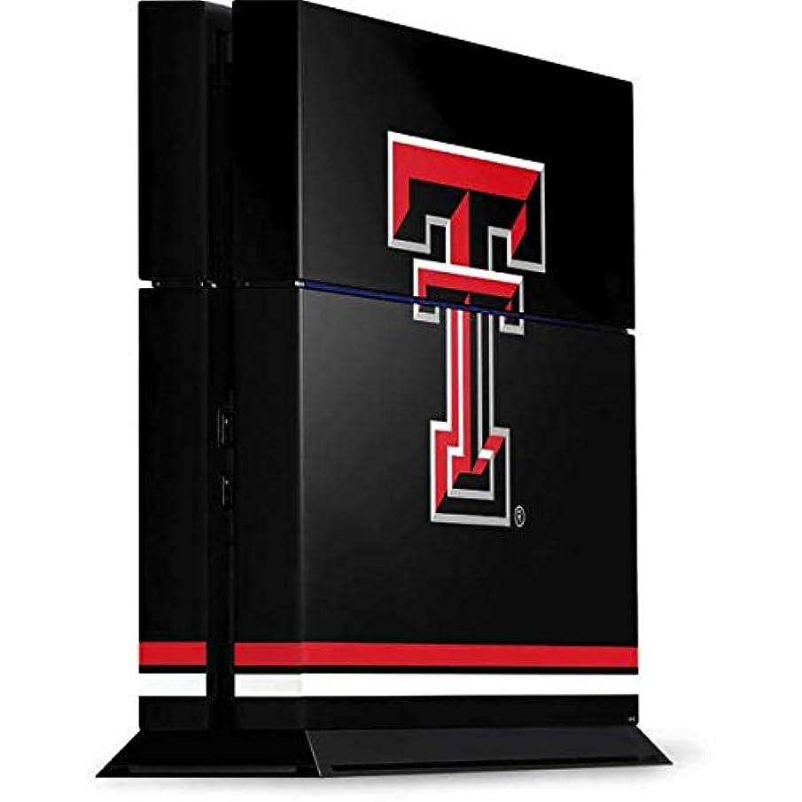 Texas Tech University PS4 Console Skin - Texas Tech Striped Logo | Schools & Skinit Skin
