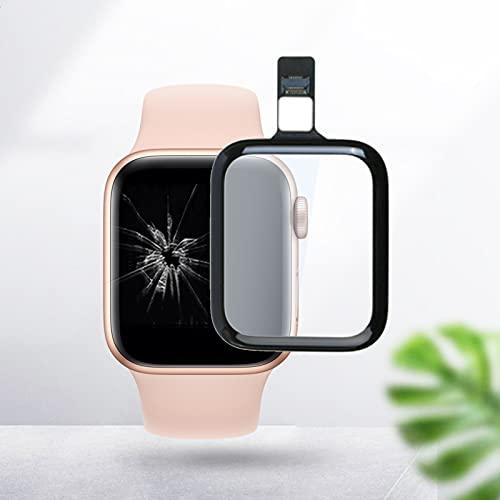 Auleset - Pannello di ricambio per display LCD con schermo touch screen digitalizzatore con cavo flessibile, compatibile con Apple Watch Series 2/3 4 5 SE, 42 mm (serie 2/3)