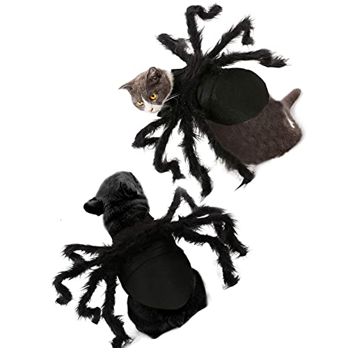 Ropa de Mascota Spider Perro Gato Disfraz S/M Tamaño Spider Cosplay para Perro Gato Vestido Realista de Felpa Araña Mascotas