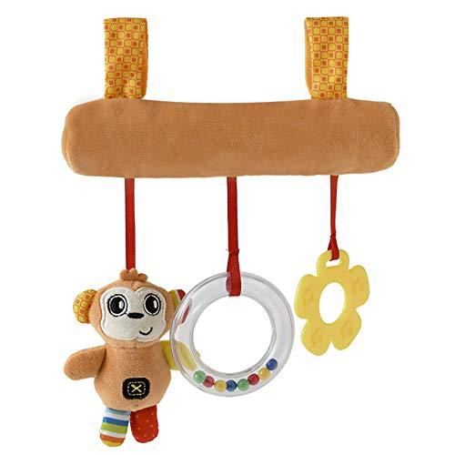 DaMohony Juguetes colgantes de bebé Cochecitos de juguete para muñecas de bebé asiento sonido cochecito de dientes juguete para bebés niñas y niños