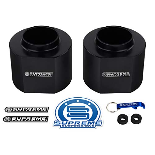 Supreme Suspensions - 3 Inch Front Leveling Kit for 1984-2001 Cherokee XJ & 1993-1998 Grand Cherokee ZJ 2WD/4WD 2-Piece Set of High-Density Delrin Spring Spacers Lift Kit