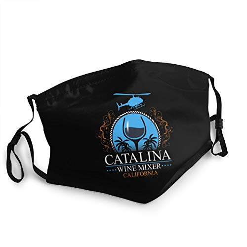 Catalina Wine Mixer Wine Mixeroutdoor Mask, Protective 5-Layer Activated Carbon Adult Men and Women Headscarf