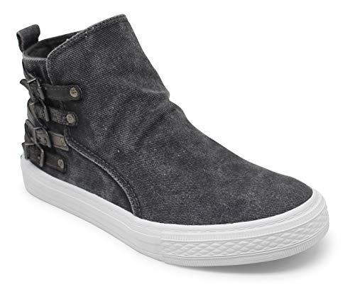 Blowfish Malibu womens Kayla fashion sneakers, Gray Hipster Smoked Twill, 11 US