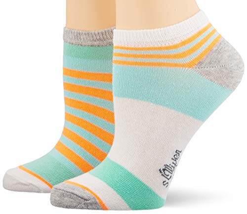 s.Oliver Socks S24166 Calcetines, Turquesa (Blue Tint 6006), 35/38 (Pack de 2) para Mujer