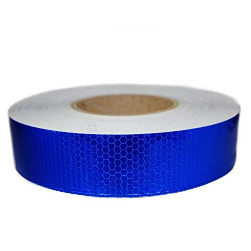 muchkey® 4cm * 5m Reflektierende Warnung Aufkleber Automarke Luminous Strip Auto Motorrad Dekoration Aufkleber Reis Rocket blau