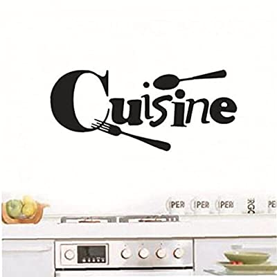 TOSSPER 1pc Wall Poster French Wall Stickers Cuisine Stickers Wall Decals for Kitchen Decoration Home Ornament