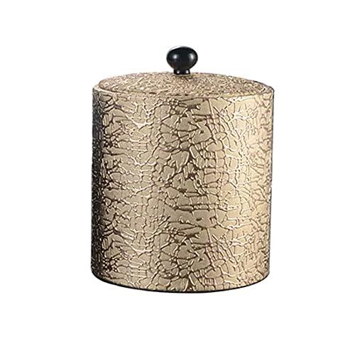 NBXLHAO Cubo de Hielo de Metal, Cubo de Hielo de Doble cáscara de Acero Inoxidable Aislado con Tapa, y Pinzas para Fiestas, Bar, reuniones Cubiertas de Hielo,Oro