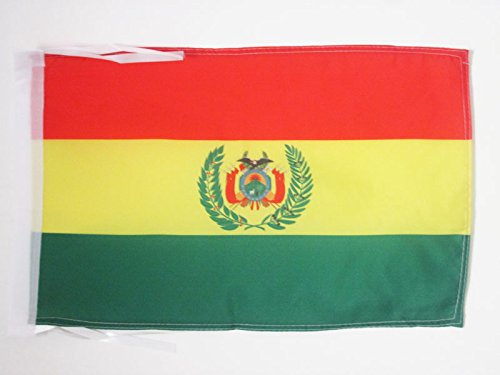AZ FLAG Flagge BOLIVIEN 45x30cm mit Kordel - BOLIVIANISCHE Fahne 30 x 45 cm - flaggen Top Qualität