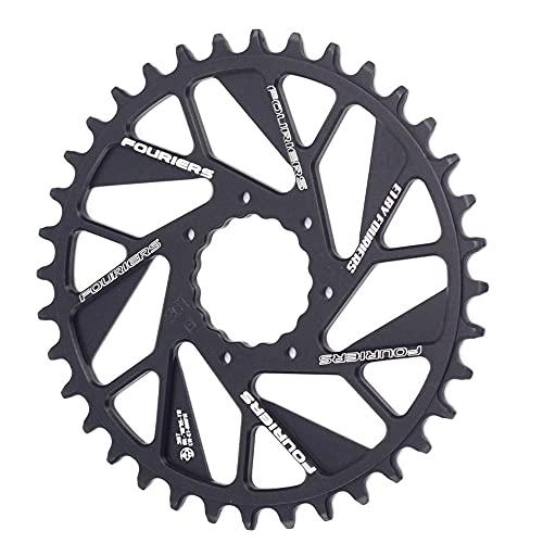 NGHSDO Platos para Bicicletas MTB Bike Single Chainring 0mm Offset Monte Directo de Ancho Estrecho Cadena de Cadena Plato Ovalado 32 MTB (Color : 36T)