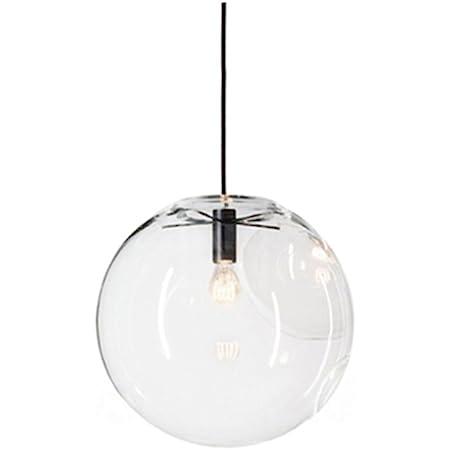 MZStech Billes en Verre Luminaire Suspension Boule verre Lustre Pendentif Lampe (30cm)