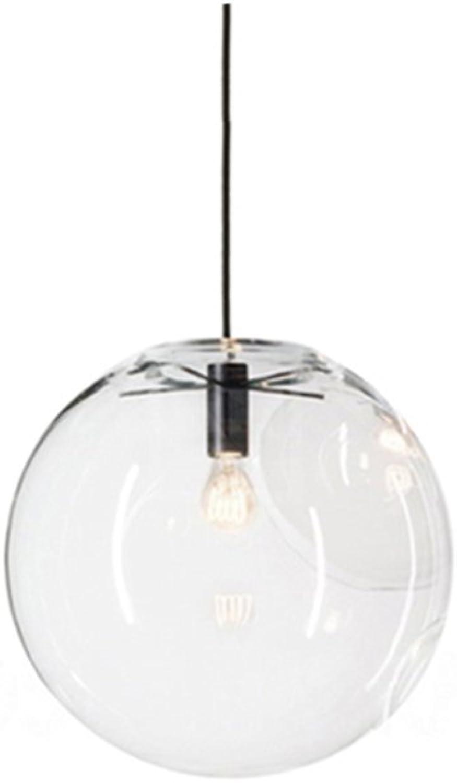 MZStech - Kugelfrmiges klassisches Glas-hngendes helles kreatives einzelnes helles Hauptglas-Lampen-Farbton (30cm)