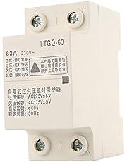 Relé de sobre y bajo voltaje, 2P63A Protector de tensión de reconexión automática, Relé de voltaje de vigilancia, protección contra sobre/bajo voltaje