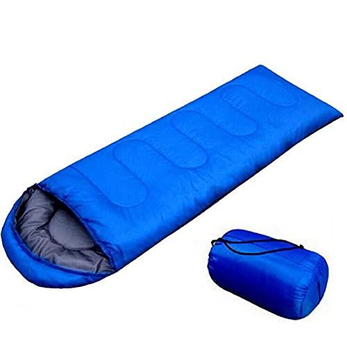 VANGALOO Sacco a pelo a mummia per adulti, per campeggio, campeggio, attività all'aperto, escursionismo, 180 x 75 cm, contro il freddo (blu)