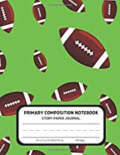 Primary Composition Notebook - Story Paper Journal: Dotted Midline and Picture Space | Grades K-2 School Writing Exercise Book | Dinosaur (Kids Football Composition Notebooks)