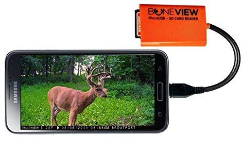BoneView SD Card Reader for Android - Smartphone Trail Camera Viewer...