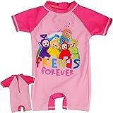 Badeanzug / Einteiler - UV Schutz & UPF 50+ - Teletubbies - Größe 6 bis 9 Monate - Gr. 68 bis 74 - Sonnenschutz - für Mädchen - Kinder - Baby - Kleinkinder - ..