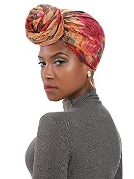 Century Star Women s Turban Soft Head Wrap Headbands Lightweight Long Shawl Scarfs Hijab for Women All Season African Turban 01 Wine Red