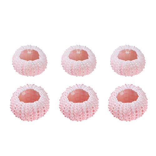 VORCOOL Shell Flower Pots Natural Shell Ornaments Miniature Shell Flower Pots Creative Ornaments Creative Crafts - 6Pcs 3/4CM (Random Color)