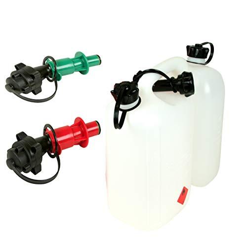 Doppelkanister Transparent Benzinkanister 5L Benzin 3L Öl
