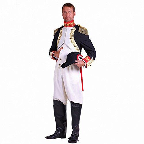 Thetru Traje de Hombre General Napoleón Uniforme Carnaval Imperial Francés histórico Disfraz (L)
