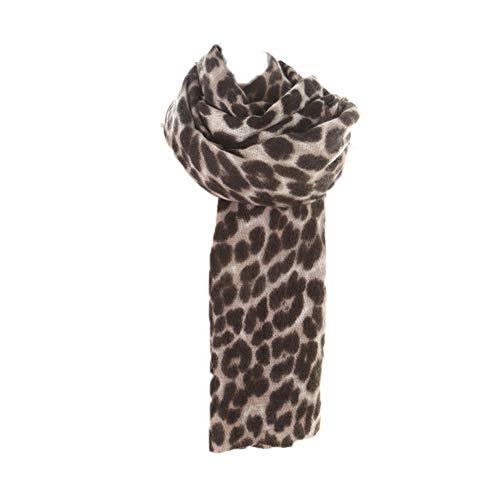 de las mujeres de la bufanda del estampado leopardo de la manera del invierno de la bufanda de la tela escocesa caliente manta Señora salvaje mantón del abrigo