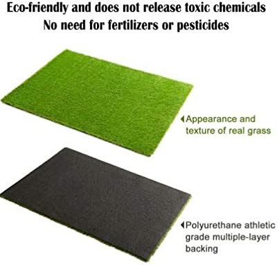 Synthetic Landscape Fake Grass, Artificial Pet Turf Lawn 2' x 3'