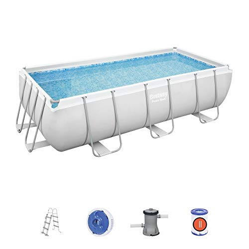 Bestway 56441 Power Steel 13 3  x 6 7  x 39.5  4.04m x 2.01m x 1.00m Rectangular Pool Set