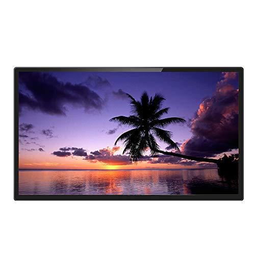 Schwarzer 1080p-Werbe-Player aus gehärtetem Glas für elektronische Alben unterstützt den digitalen 32-Zoll-IPS-Bilderrahmen von HDMI
