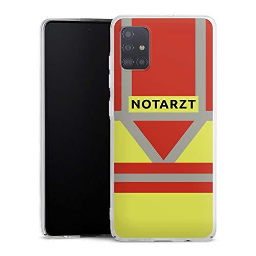 DeinDesign Hard Case kompatibel mit Samsung Galaxy A51 Schutzhülle transparent Smartphone Backcover Beruf Notarzt Uniform