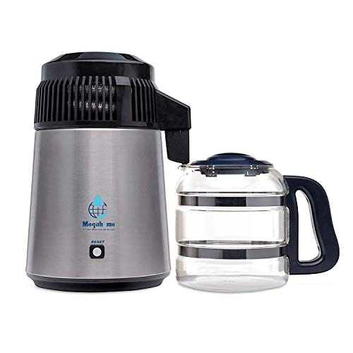 Megahome Nutriteam Countertop Water Distiller Stainless, Glass...
