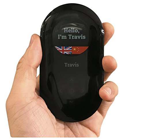 Travis AI Two Way Instant Digital Voice Translator 80 Languages for Learning Travel Shopping Business by express
