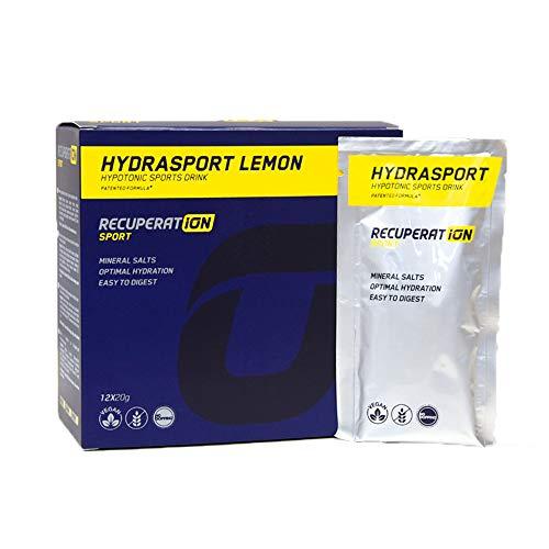 RECUPERAT-ION Sport Hydrasport Sabor limón | Bebida Deportiva científicamente formulada | 12 Sobres